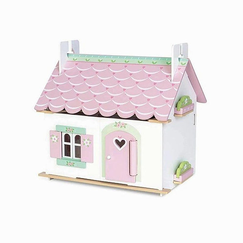 Le Toy Van Lily's Doll Cottage W/Furniture