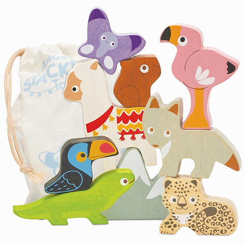 Le Toy Van Andes Animal Stacker And Bag