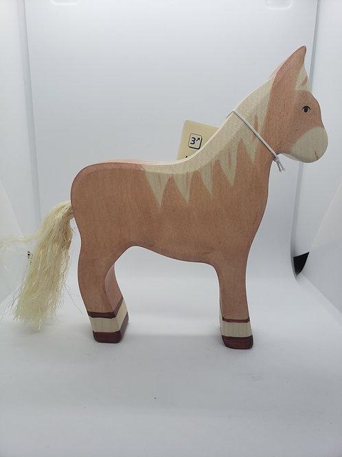 Holztiger 80033 - Horse, Standing, Light Brown