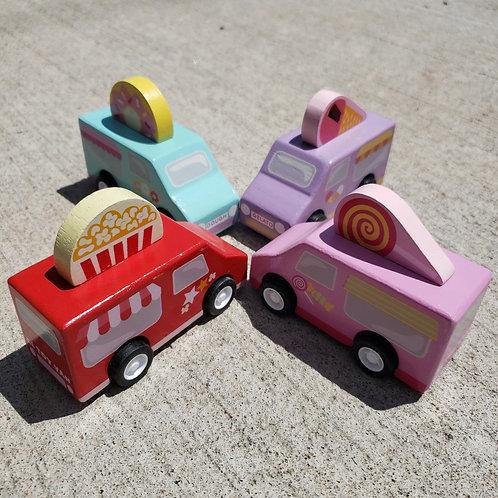 Le Toy Van Sweets & Treats Pull Backs (4 Units)