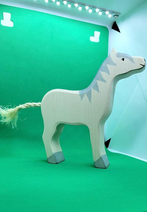 Holztiger 80360 - Horse, head raised, grey mane