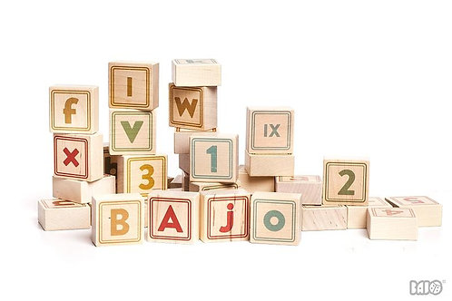 Bajo Alphabet Blocks - Natural
