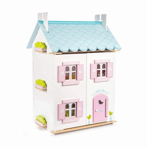 Le Toy Van Blue Bird Cottage Doll House & Furniture
