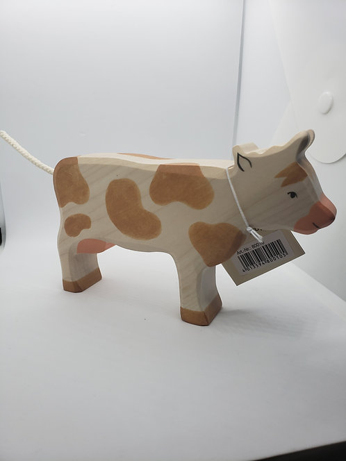 Holztiger 80010 - Cow, Standing, Brown