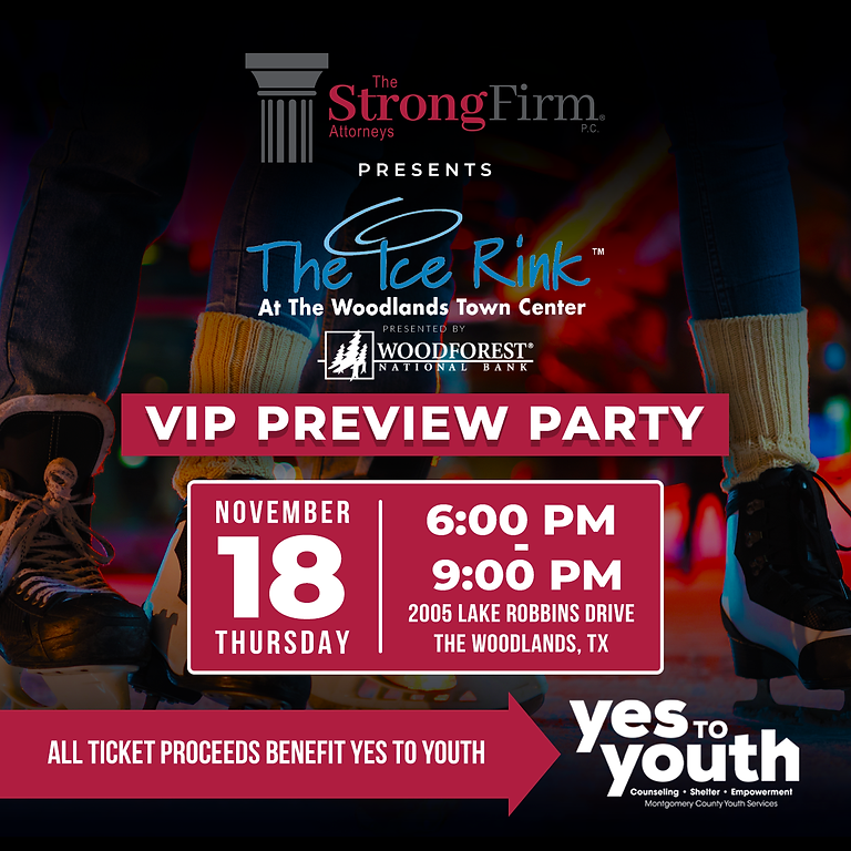 Strong Firm Ice Rink Preview Party Benefiting YES TO YOUTH