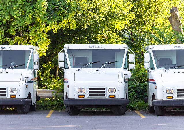 Three Empty, Parked, United States Post