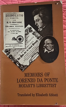 Memoirs of Lorenzo Da Ponte - Mozart's Librettist