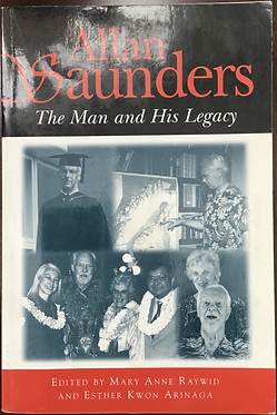 Allan Saunders TheMan and His Legacy