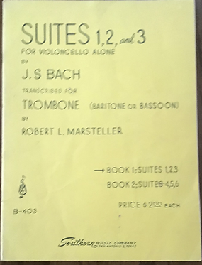 Suites 1, 2 and 3 for violoncello Alone by JS Bach