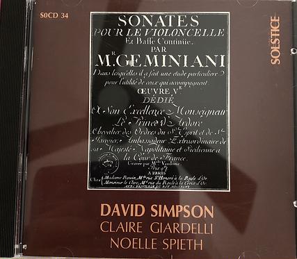 Sonates Pour le Violoncelle Et Baffe par continue par Mr GE Minion