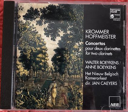 Krämer Hoffmeister Concertos for two clarinets