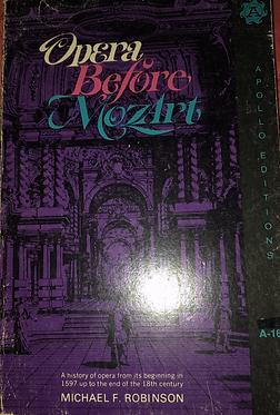Opera Before Mozart