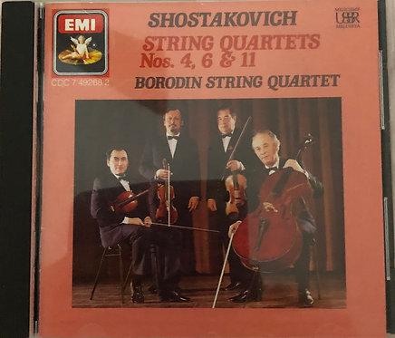 shostakovich string quartets Nos. 4, 6 & 11