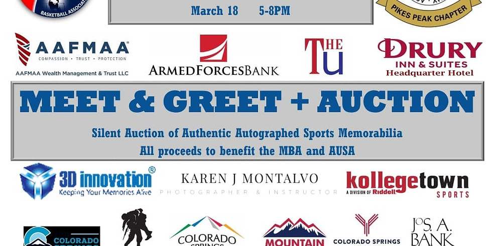 Military Basketball Association Meet & Greet + Auction