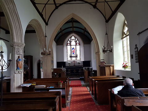 The nave facing east