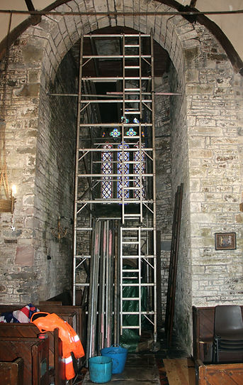 IMG_4062 - Access Tower placed and later removed  on 16.1.20 to open up hatch above font.j