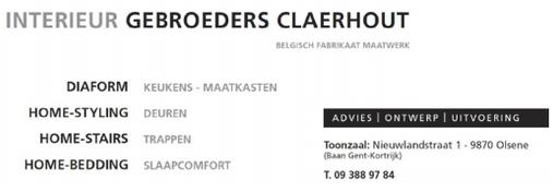 Interieur Claerhout