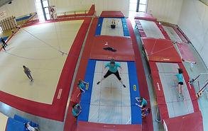 Acro-tramp, Acrotramp vidéos aériennes drone - cours de trampoline louvain-la-neuve Blocry