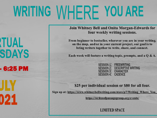 """Two Local Writers Host Writing Workshop, """"Writing Where You Are"""""""