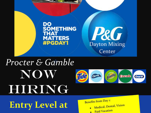 Procter & Gamble Now Hiring