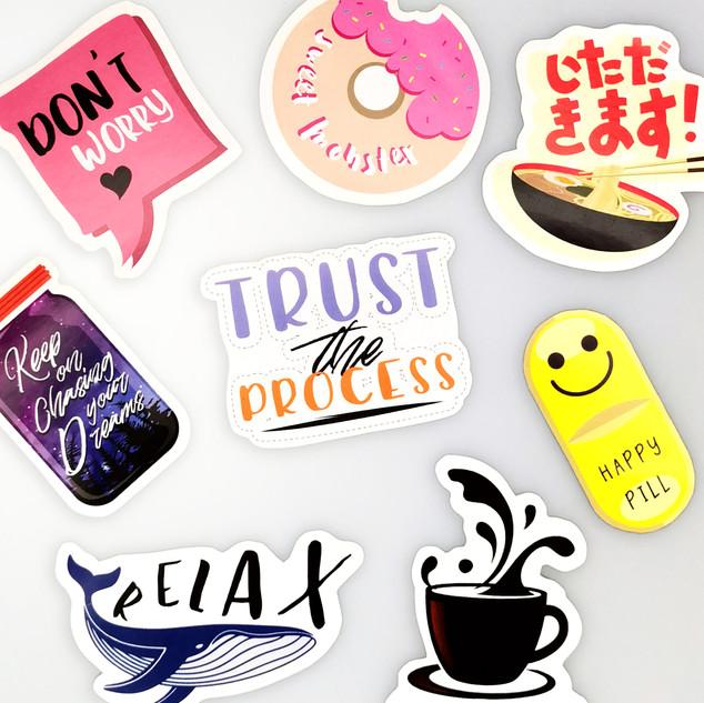 Assorted Die-Cut Stickers