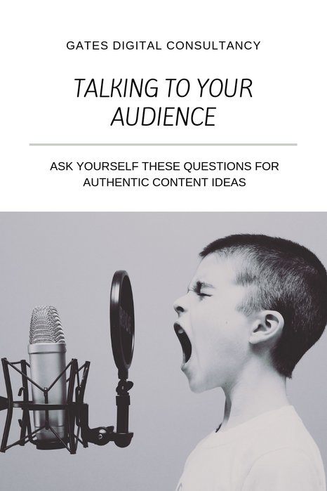 Talking To Your Audience