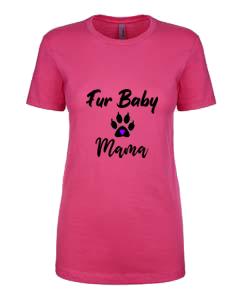 Ladies T-Shirt- Cat Paw Fur Baby Mama