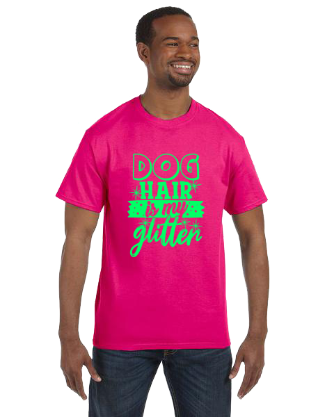 Unisex Gildan T-shirt- Dog Hair Glitter