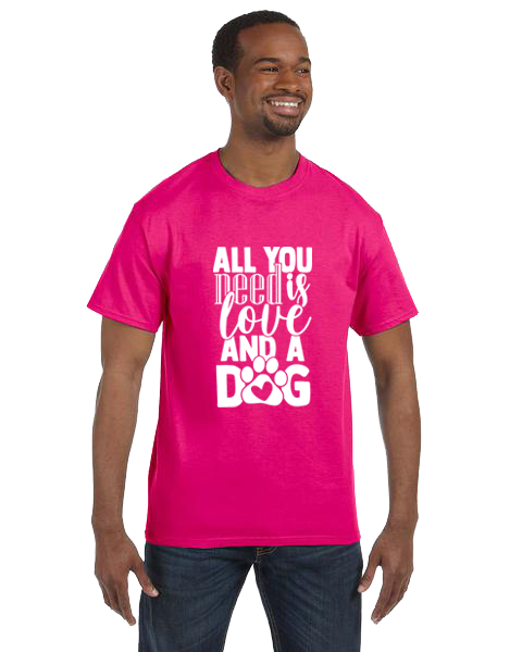 Unisex Gildan T-shirt- All You Need Is Dogs