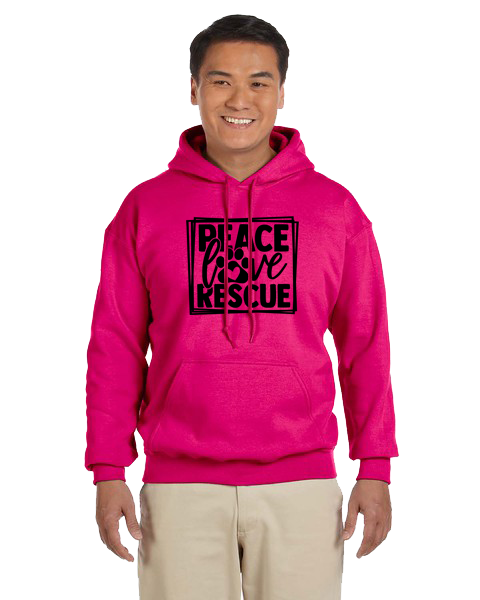 Unisex Hoodie- Peace Love Rescue