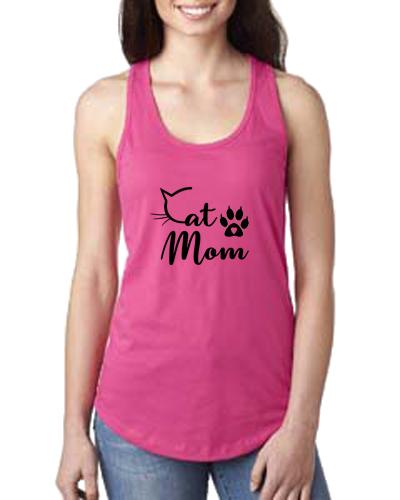 Ladies Tank- Cat Mom C