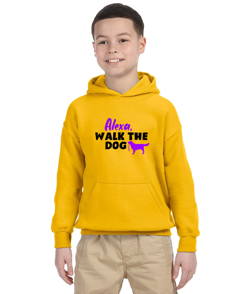 Kids Hoodie- Alexa Walk The Dog