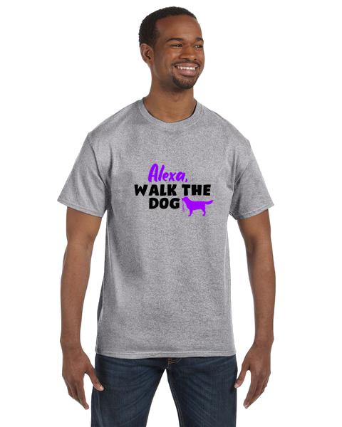 Unisex Gildan T-shirt-Alexa Walk Dog