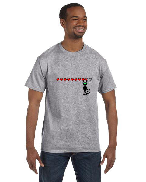 Unisex Gildan T-Shirt- Cat 9 Lives
