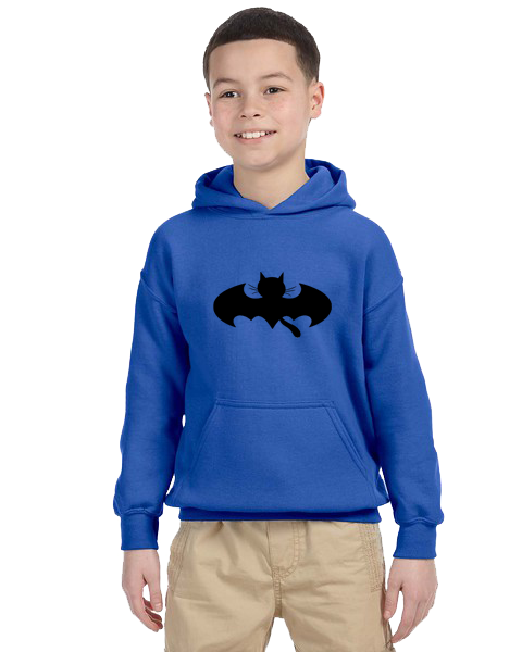 Kids Hoodie- Bat Cat