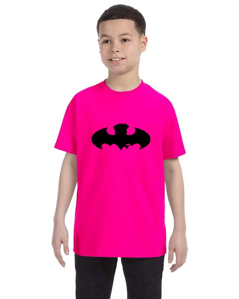 Kids Unisex Tee- Bat Pug