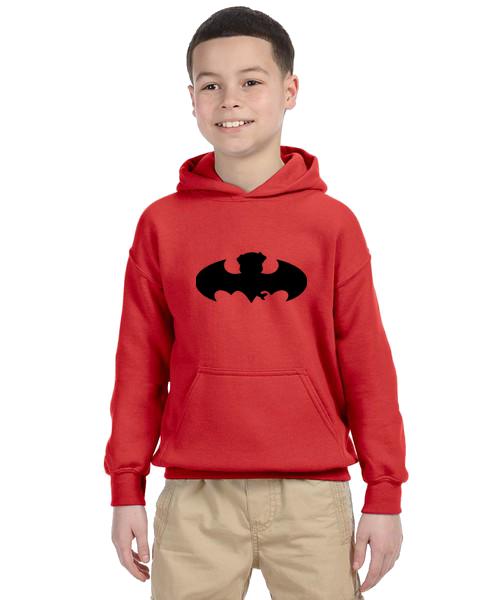 Kids Hoodie- Bat Pug