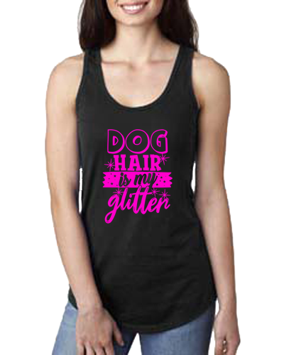 Ladies Tank- Dog Hair Glitter