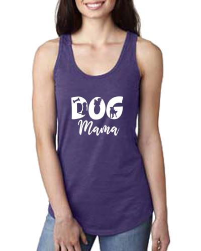 Ladies Tank- Dog Mama Cutout