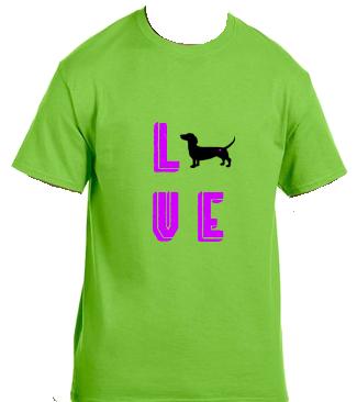 Unisex Gildan T-shirt- Love Letters Dog