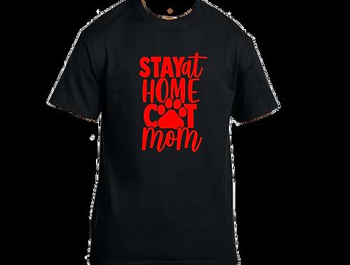 Unisex Gildan T-shirt- Stay Home Cat mama