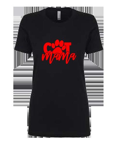 Ladies T-Shirt- Cat Mama Paw