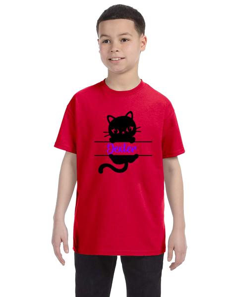 Kids Unisex Tee- Cat Name