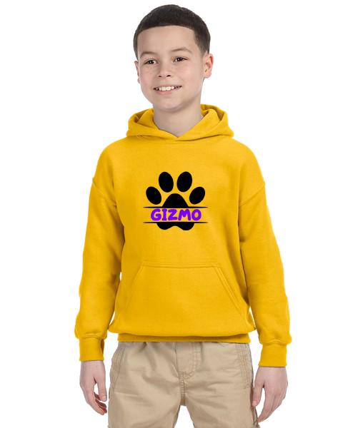 Kids Hoodie- Paw Name