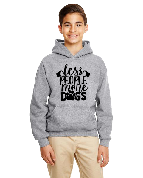 Kids Hoodie- Less People More Dogs
