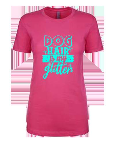Ladies T-Shirt- Dog Hair Glitter