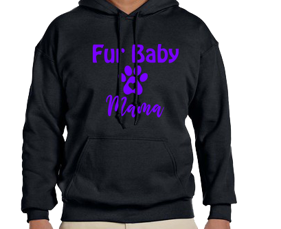 Unisex Hoodie- Dog Fur Baby Mama