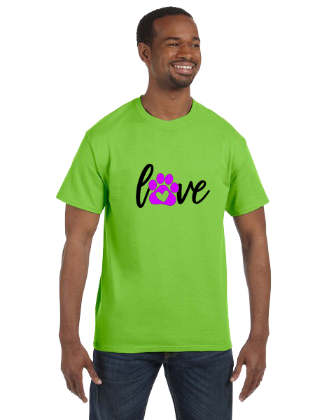 Unisex Gildan T-shirt- Love Paw Print