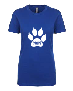 Ladies T-Shirt- Cat Mom In Paw