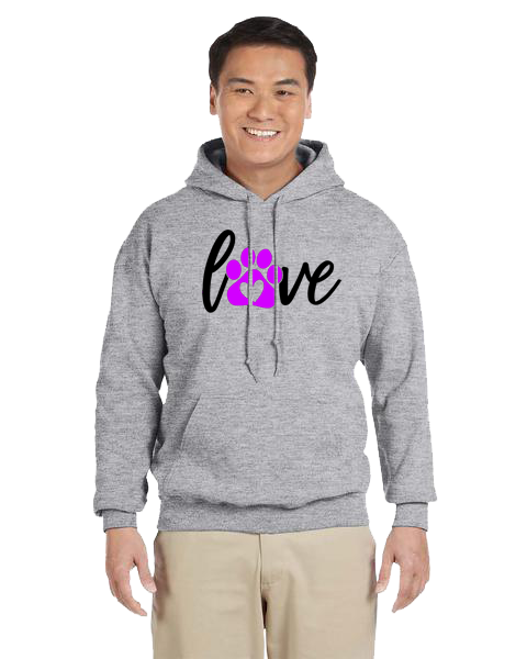 Unisex Hoodie- Love With Paw